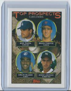 1993-Topps-701-Mike-Piazza-Carlos-Delgado-Dodgers-HOF-Rookie-Mint