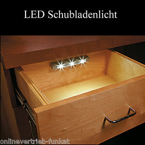 led schrank lichtleiste schublade licht lampe schranklicht unterbauleuchte batte ebay. Black Bedroom Furniture Sets. Home Design Ideas
