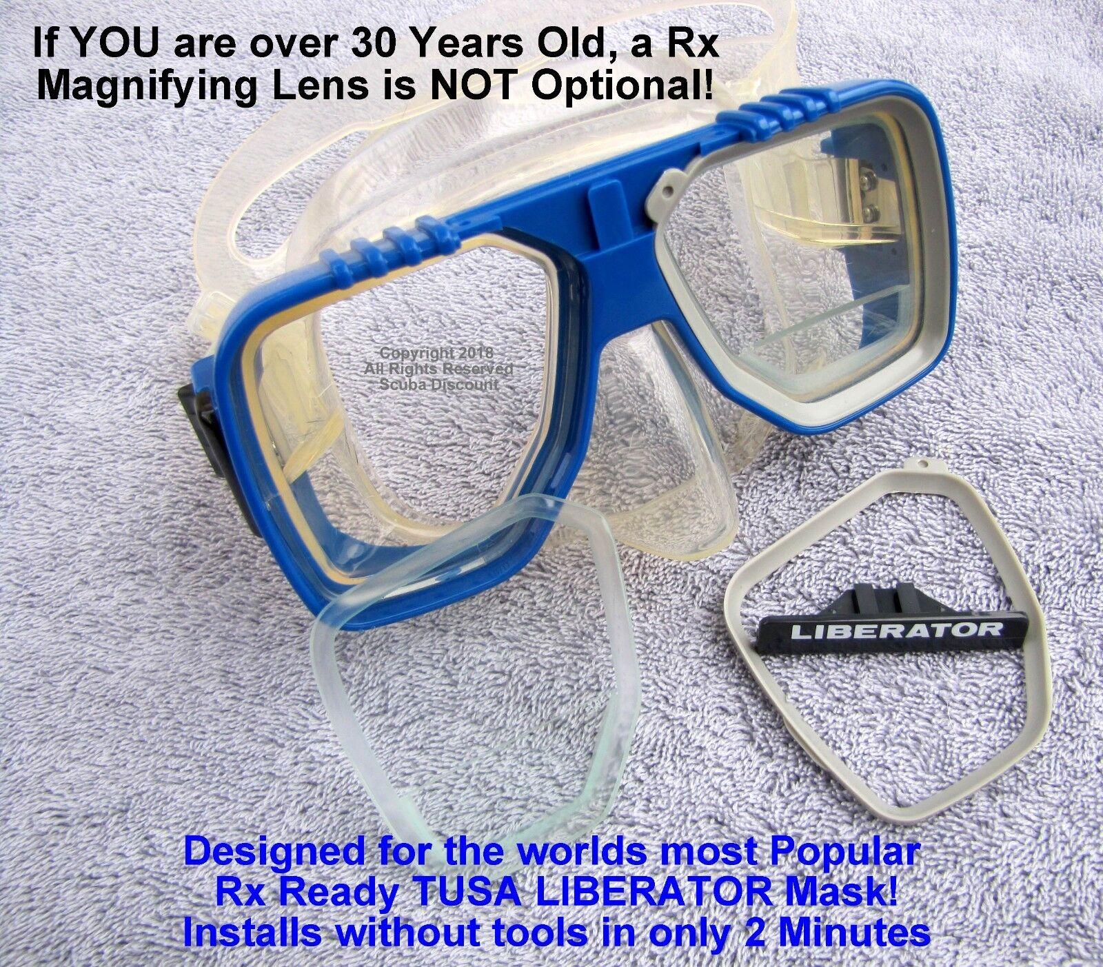 "TUSA Liberator & Liberator-Plus Scuba Mask ""Gauge Reader"" RX Lens  +3.0 RIGHT"