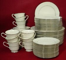 NORITAKE china TRUDY 7087 pattern 59-pc SET SERVICE for TWELVE (12)