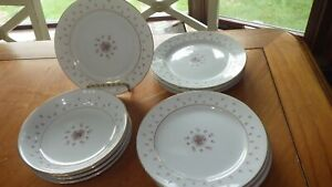 Fine China Normandy by NIKKO Seyei Bread Butter Plates Fruit bowls 11pcs total