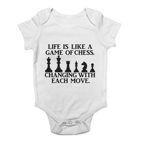 Life is like a Game of Chess Changing with Each Move Baby Grow Vest Bodysuit