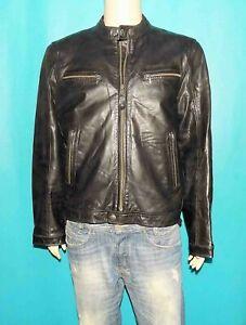 veste blouson REDSKINS cuir noir taille XXL