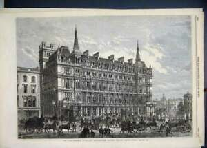 Original-Old-Antique-Print-1867-Terminus-Hotel-South-Eastern-Railway-Station