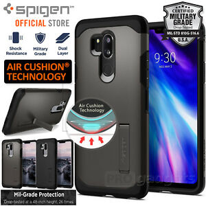 super popular 55d8f 37d49 Details about [FREE EXPRESS] LG G7 ThinQ Case, Spigen Tough Armor Kickstand  Hard Cover for LG