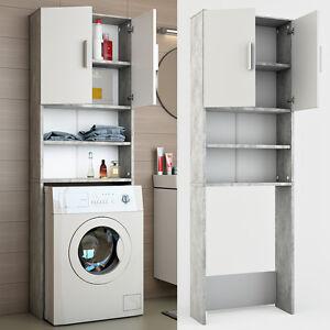 Badmobel Mit Waschmaschinenschrank.Vicco Waschmaschinenschrank 190 X 64 Cm In Grau Beton Badmobel
