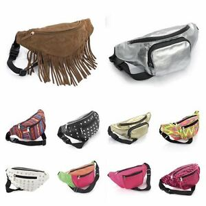 Faux-leather-studded-grunge-bum-bag-festival-fanny-pack-neon-BNWT