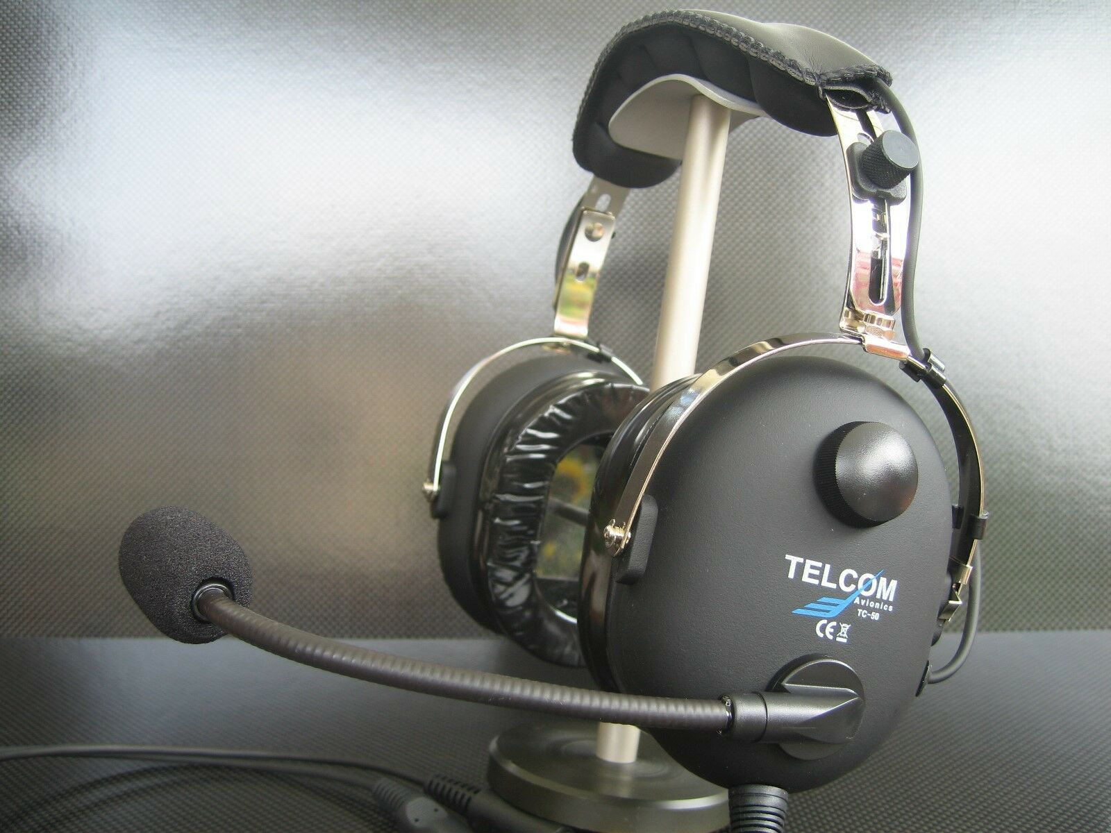 TELCOM TC-50AS Pilot Aviation Headset Modell 2018 Made in in Made Germany NEU 40718d