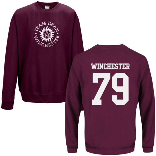 Team Dean Winchester 79 Sweatshirt Supernatural Saving People Hunting Things