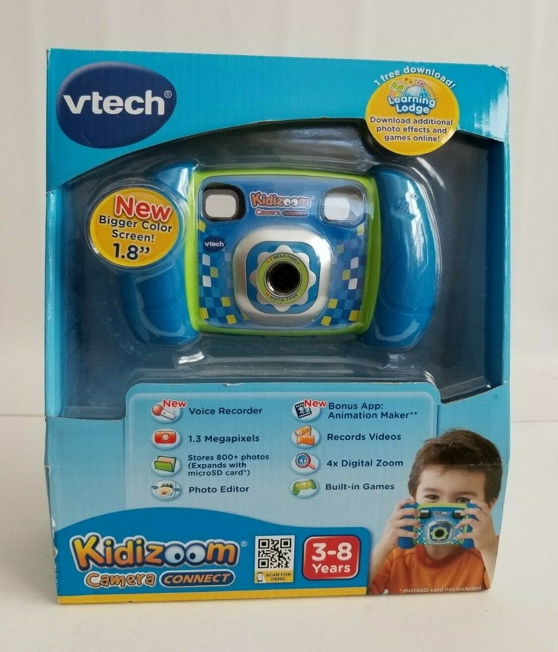 VTech Kidizoom Camera Connect bluee NEW