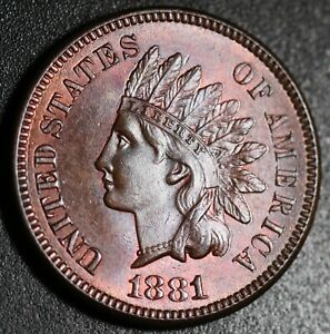 1881-INDIAN-HEAD-CENT-BU-UNC-With-CARTWHEELING-MINT-LUSTER