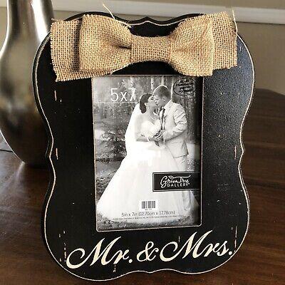 Wedding Picture Frame 5x7 Mr Mrs Rustic Farm House Ebay