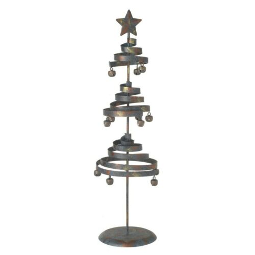 heaven sends christmas decoration small metal spiral xmas tree tabletop decs - Small Metal Christmas Tree