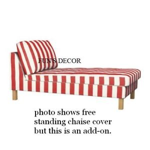 New Ikea Karlstad Add On Chaise Lounge Cover Slipcover