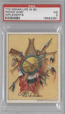 1910 Hassan Life In The 60's T73 #inwa Indian War Implements Psa 3 Vg Card M5x Exquise Vakmanschap;
