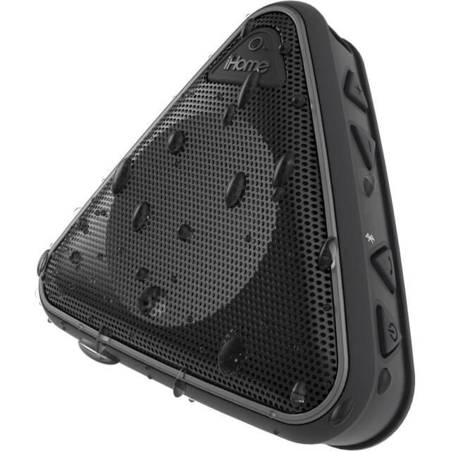 iHome iBT10 Splashproof Wireless Bluetooth Speaker with Speakerphone  (Black/Gray)