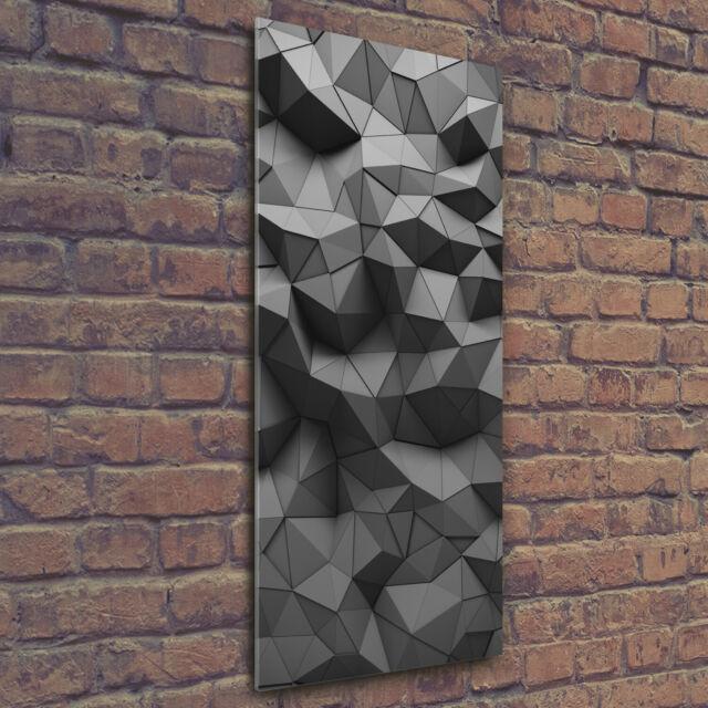 Wandbild Kunst-Druck auf Hart-Glas hochkant 50x125 Abstraktes