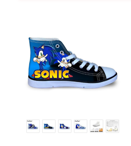 Sonic The Hedgehog New 2020 Kid S Sneakers Sizes 11 5 To 3 23 Different Styles Ebay