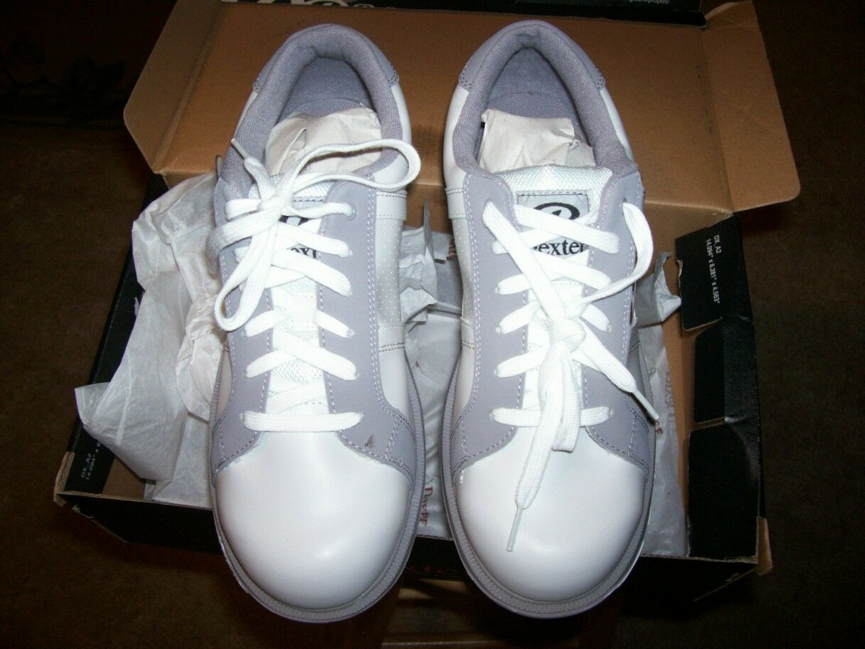 New and Boxed Dexter Bowling shoes Size 10M (D) White Grey color