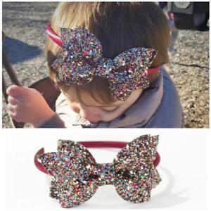 Joli-bebe-Enfants-nourrissons-Head-Wrap-Noeud-Serre-tete-Bling-hair-band