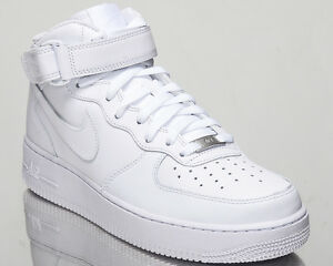 Nike Air Force 1 Mid 07 All White AF1 men lifestyle sneakers NEW 315123-111