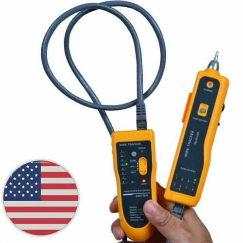 RJ45 Telephone//Phone Wire Tracker Tracer Ethernet LAN Network Cable Tester Toner