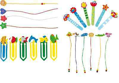 Bookmarks children colourful wooden pegs help find the page you were reading!