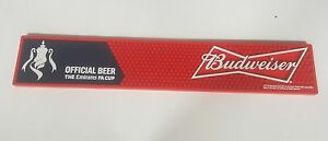 x2-Budweiser-FA-cup-football-Emirates-Bud-Bar-Mat-Rubber-Runner-PUB-BAR-MANCAVE