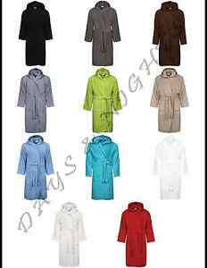 e0e89572b7 Image is loading UNISEX-BELTED-HOODED-100-EGYPTIAN-COTTON-TERRY-TOWELLING-