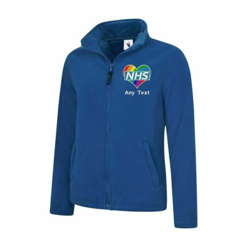 Show Love For NHS Personalised Heart Logo  Embroidered Health Care Ladies Jacket