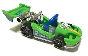 Hot Wheels Let's Go Car 2013 Green 5-Spoke Wheel - Loose