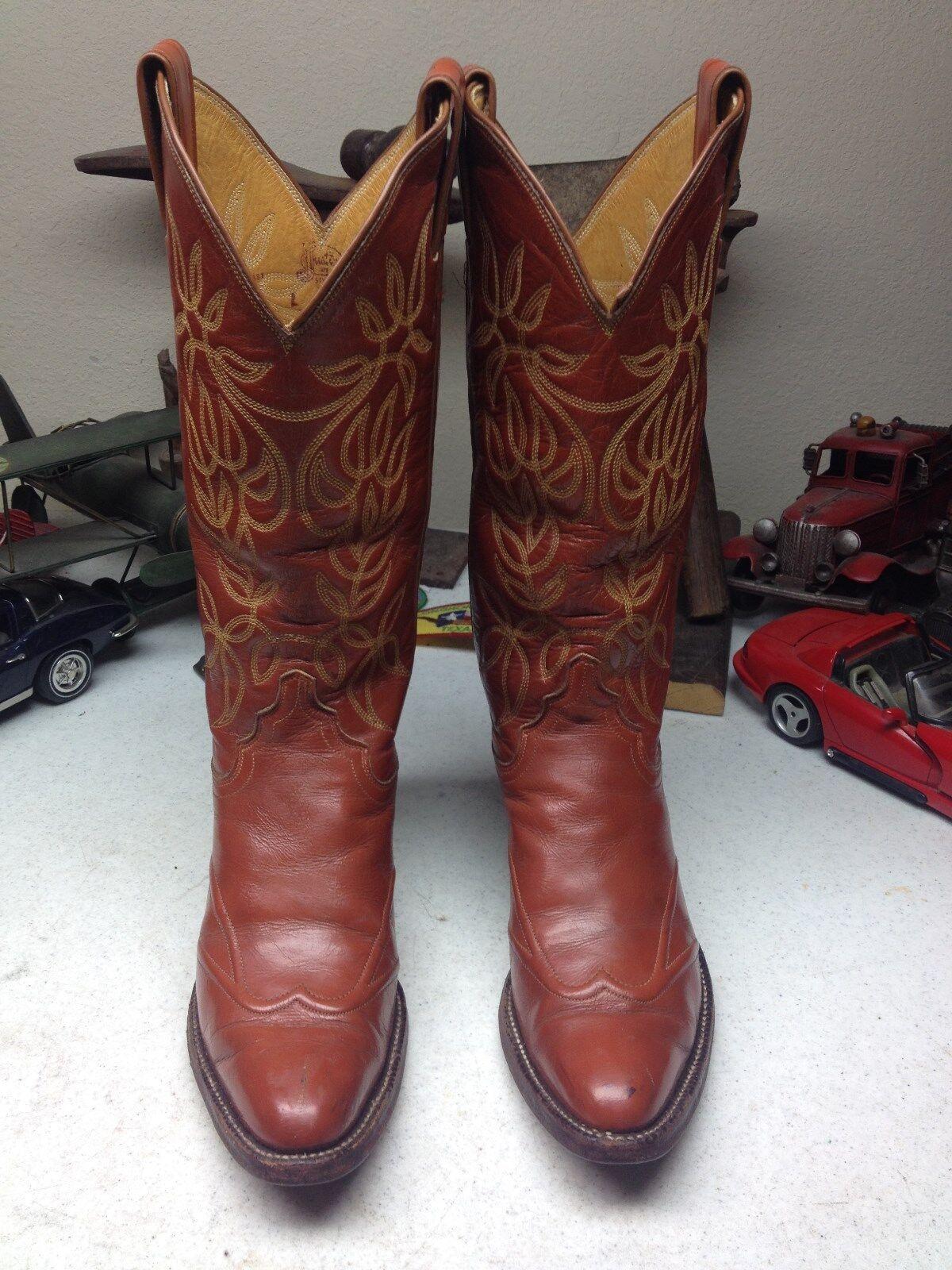 acquista online oggi JUSTIN 4115 USA USA USA rosso Marrone WESTERN COWBOY RANCH RODEO RIDER  DANCE stivali 5 B  punto vendita