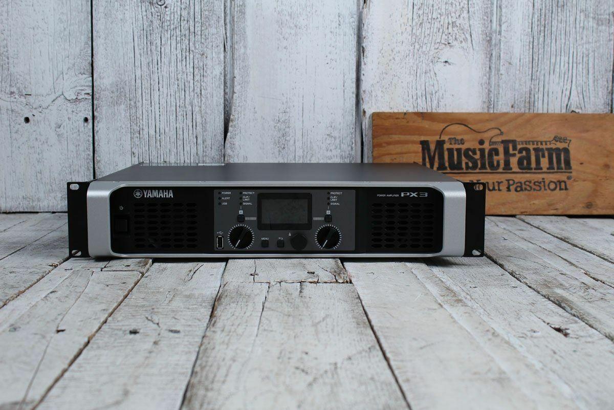 Yamaha PX3 Power Amplifier 2 Channel 500 Watt Class D Amp w Built In Processing