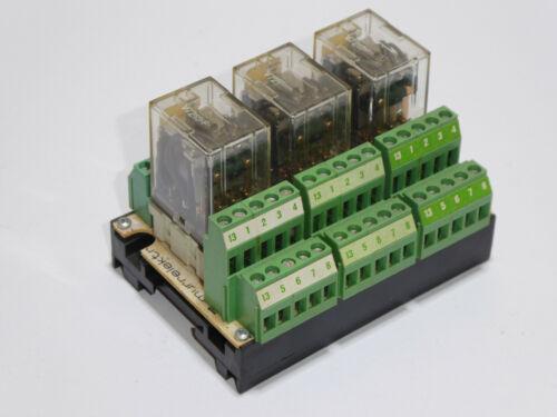 24V DC Murr Electronic RPI 3//4 D-002 3-fach Relaissockel mit Relais IR24