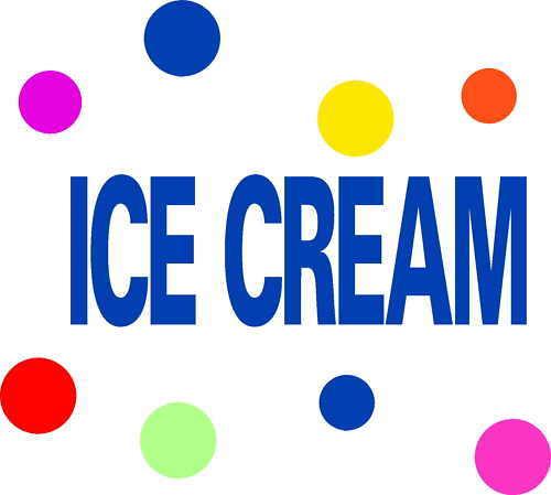 ICE CREAM TRUCK VINYL DECALS STICKERS LETTERING GRAPHIC 62 pc set