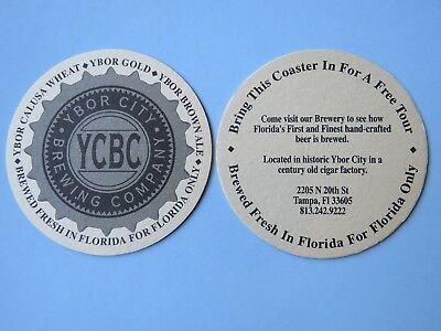 CIGAR CITY BREWING STICKER AND 2 BEER MATS // COASTERS TAMPA FL