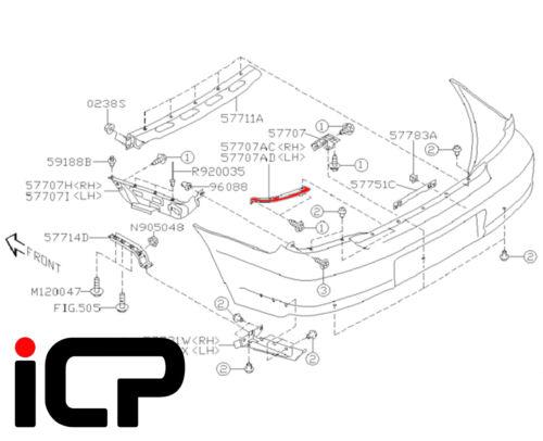 Genuine RH bajo luz soporte de soporte de parachoques encaja SUBARU IMPREZA Sedán 00-07