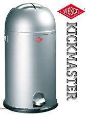 Wesco Kickmaster Zilver.Wesco Kickmaster Waste Bin Silver Ebay