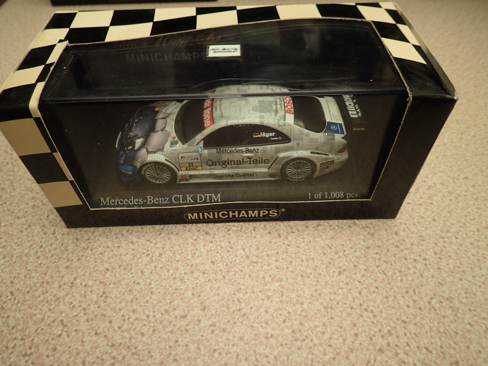 Ltd Edn Minichamps 400 023111 Mercedes CLK Coupe DTM 2001 Team Original Jaeger