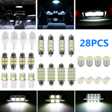 28pcs Car Interior Led Light For Dome Map License Plate Lamp Bulbs Accessories Fits Mustang
