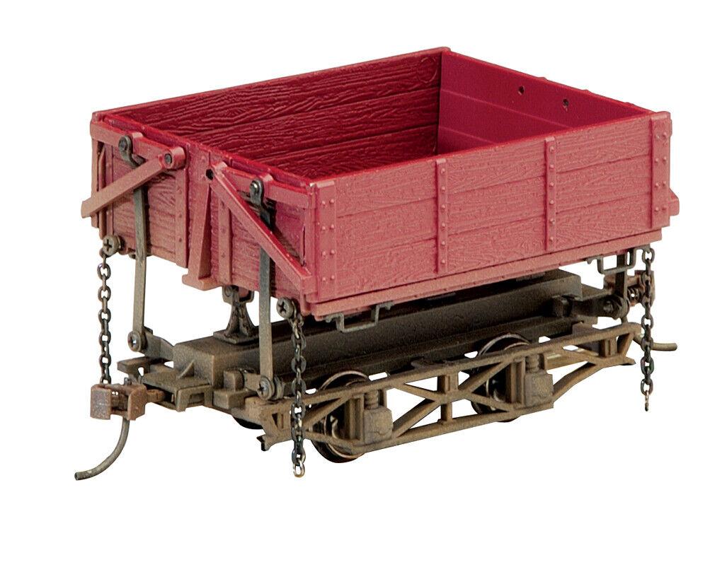 Bachmann On30 29801 Wood Side-Dump Car - rosso Oxide (3 Box)