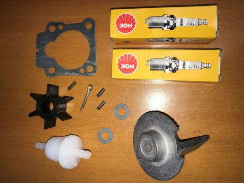 Impeller Anode /& Plugs Service Parts Kit for 8HP 9.8HP Tohatsu Outboard incl