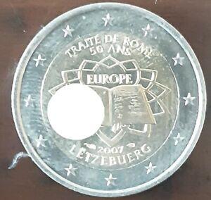 2 Euro Commémorative Luxembourg 2007 -Traite de Rome-CIR-Qualité Superbe