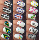 NAIL ART WATER STICKERS TRANSFERS DECALS DANDELION PINEAPPLE NAUTICAL FEATHERS