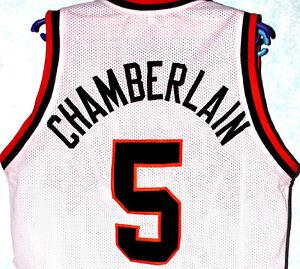 WILT CHAMBERLAIN  5 OVERBROOK HIGH SCHOOL JERSEY WHITE NEW SEWN ANY ... 87f0978f1