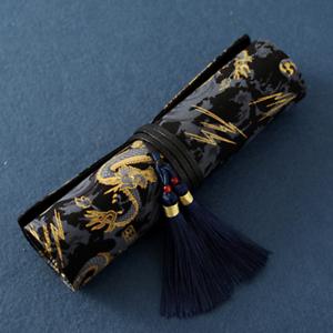 The Dragon Fountain Pen Black Bag Case Standards Pouch for PENBBS MOONMAN
