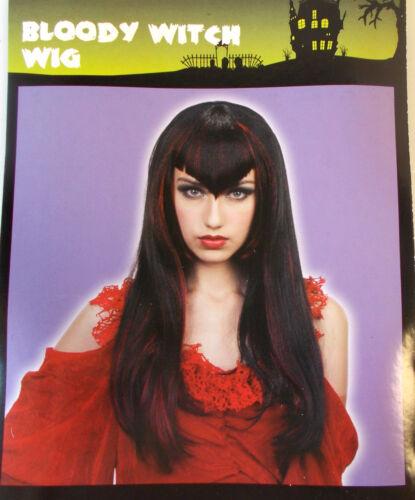 "Bloody Witch Wig Vampiress Adult Costume 16/"" OSFM NIP"