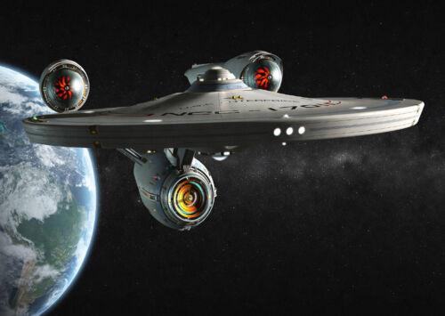 A0 A1 A2 A3 A4 Sizes Star Trek Enterprise Space Ship Giant Poster Art Print