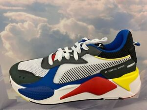 7784e95d8181 Puma RS-X Toys Running System White Black Blue Red Yellow Men Sz 4Y ...