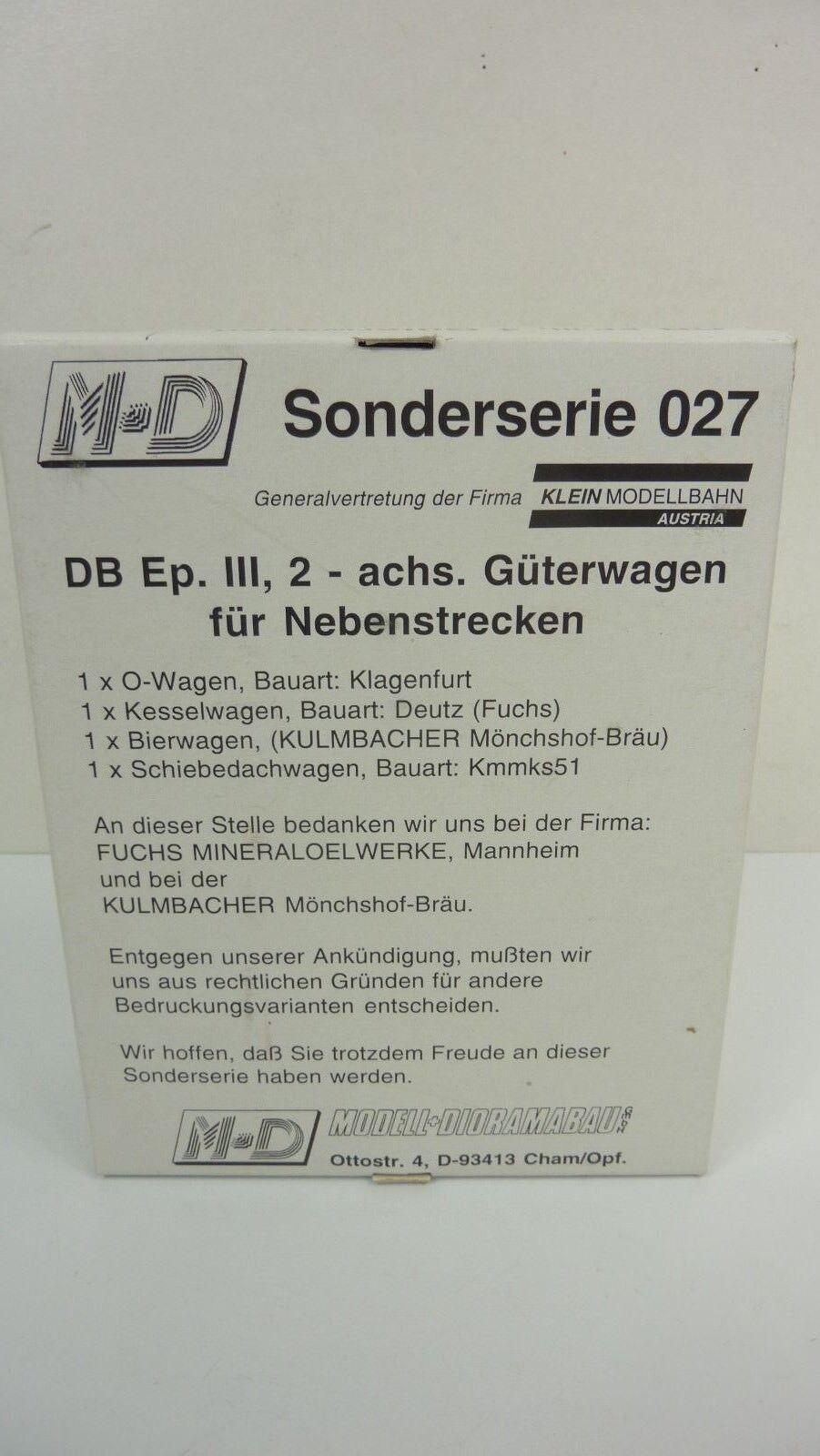M + D h0 serie speciale 027 4 x Carro merci per linee secondarie della DB in OVP (rb2404)